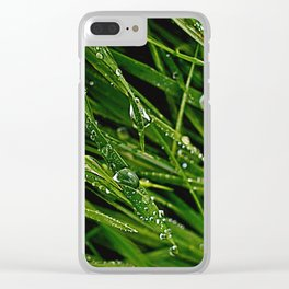 Dew Grass Clear iPhone Case