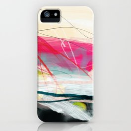 abstract landscape with pink sky over white cloud mountain iPhone Case