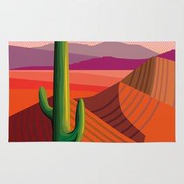 Phoenix Arizona Travel Poster Rug
