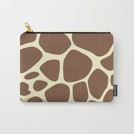 Animal Print (Giraffe Pattern) - Brown Yellow Carry-All Pouch