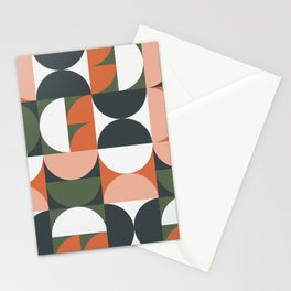 Mid Century Geometric 16 Stationery Cards