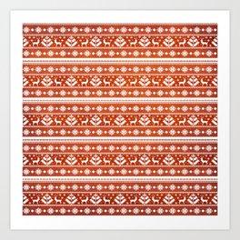Folk Pattern Art Print