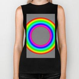 12 color rainbow donut Biker Tank