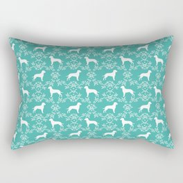 Dalmatian silhouette florals dog breed gifts for dalmatians floral pattern Rectangular Pillow