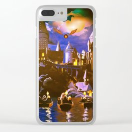 Hogwarts At Starry Night Clear iPhone Case