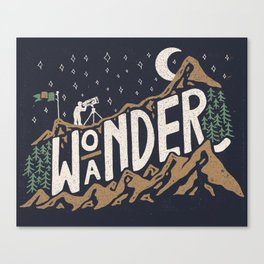 Wo/aNDER Canvas Print