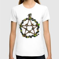 pentagram T-shirts featuring PENTAGRAM GARLAND by Dianah B