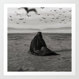 Burqa Black Art Print