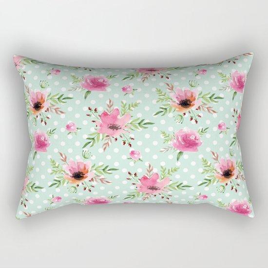 Floral vintage pattern Rectangular Pillow