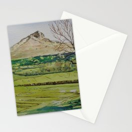Roseberry topping plein air 29th mar Stationery Cards
