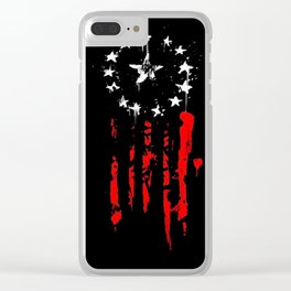 Old World Flag Clear iPhone Case