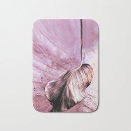 Beech Leaf Abstract Bath Mat