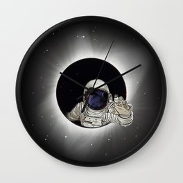 Black Hole Astronaut Wall Clock