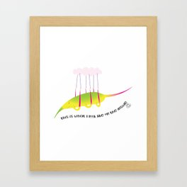 on the inside : my own cloud Framed Art Print