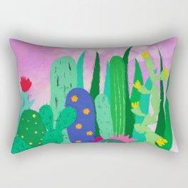 Painted cacti Rectangular Pillow