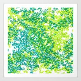 Moss (blue/green) Art Print