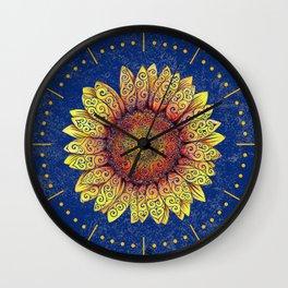 Swirly Sunflower Wall Clock