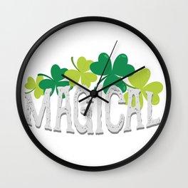 Magical Love Unicorn St Patricks Day Kids Girl Women Wall Clock