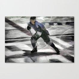 Let's Go! - Ice Hockey Player Canvas Print