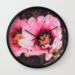 Faded Desert Blooms Wall Clock