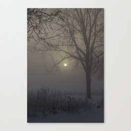 A Cold Winter Morning in Wisconsin Canvas Print