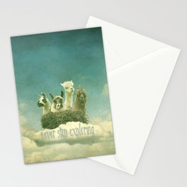 NEVER STOP EXPLORING THE CLOUDS Stationery Cards
