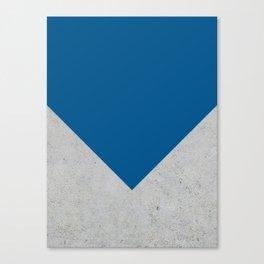 Blue & Grey Concrete Canvas Print
