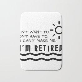 Retirement Gifts Funny For Men Women Husband Dad Mom Bath Mat