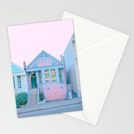 San Francisco Painted Lady Victorian House Stationery Cards