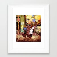 melbourne Framed Art Prints featuring Melbourne by Laura Elliott