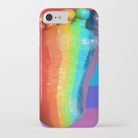 duvet cover iPhone & iPod Cases featuring RAINBOW COLORS DUVET COVER by aztosaha