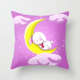 Valentine - Sleeping Bunny Throw Pillow