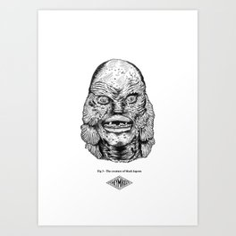 The creature of black lagoon Art Print