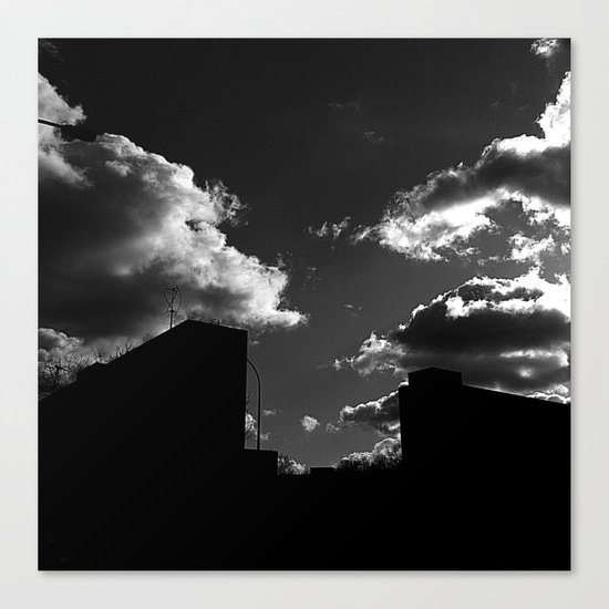 The Clouds above-Monochrome version Canvas Print