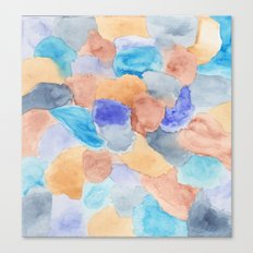 Seaglass Mosaic Canvas Print