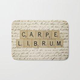 Carpe Librum [seize the book] Bath Mat