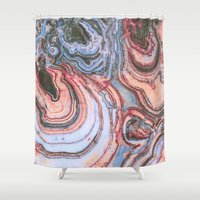 agate Shower Curtains featuring Agate by Jessilee Shipman