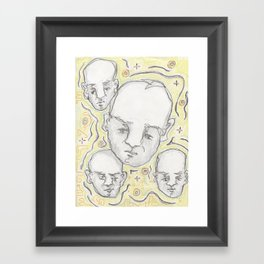 crowded elevator Framed Art Print