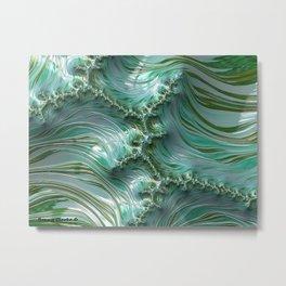 Frothy Waves Metal Print