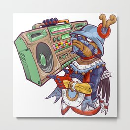 Tezcatlipoca Old School Hip Hop Metal Print