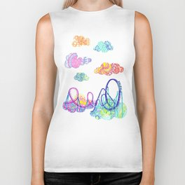We'll see you in style, riding rainbow roller-coasters in the sky. Biker Tank