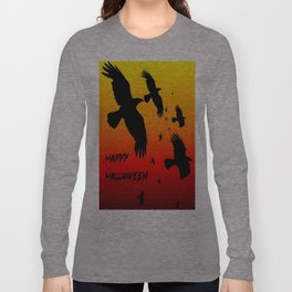 Happy Halloween Murder of Crows  Long Sleeve T-shirt