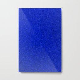 Blue Fleecy Material Texture Metal Print