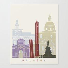 Bologna skyline poster Canvas Print