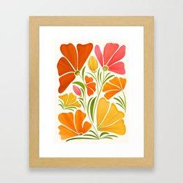 Spring Wildflowers / Floral Illustration Framed Art Print