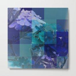 Purple And Blue Tiled Verbena Metal Print