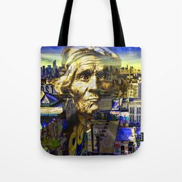Ghost Tribe Native Americans in New York Yellow Tote Bag