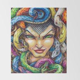 Medusa Throw Blanket