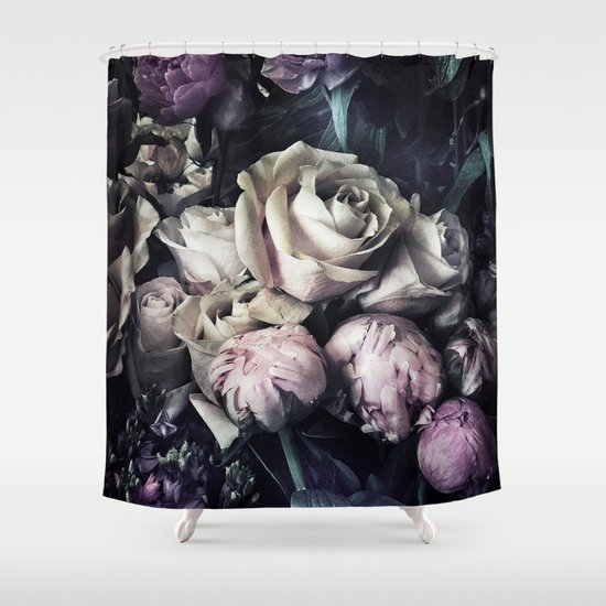 Roses and peonies vintage style Shower Curtain by chrissyink   Society6