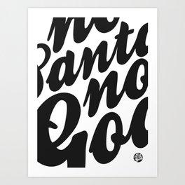 NSNG Pattern B&W Art Print